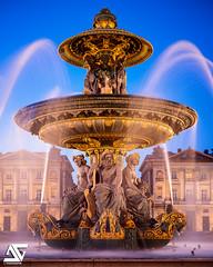 Place de la Concorde (A.G. Photographe) Tags: ag agphotographe paris parisien parisian france french français europe capitale d800 nikon nikkor 2470 placedelaconcorde fontainedesfleuves night heurebleue