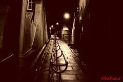 Lerwick Hill (red.richard) Tags: lane handrail paving street bw sepia lerwick shetland isles scotland nikon d3300