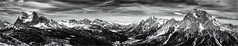 Even more Mountains... (Ody on the mount) Tags: ampezzo anlässe berge dolomiten em5ii fototour gipfel himmel italien mzuiko1250 omd olympus panores panorama pelmo rahmen schnee schneeschuhtour schneeschuhtour2019 südtirol urlaub winter wolken bw clouds frame monochrome mountains peaks sw sky cibianadicadore provinzbelluno it