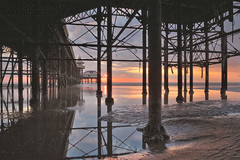 North Pier Sunset. (Jason Connolly) Tags: blackpool blackpoollandscapes blackpoolbeach blackpoolsunset northwestengland northernengland northpier northpierblackpool blackpoolnorthpier lancashire lancashirelandscape lancashirecoastline