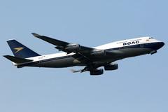 British Airways | Boeing 747-400 | G-BYGC | BOAC retro livery | London Heathrow (Dennis HKG) Tags: aircraft airplane airport plane planespotting oneworld canon 7d 100400 london heathrow egll lhr britishairways ba baw speedbird boeing 747 747400 boeing747 boeing747400 gbygc boac