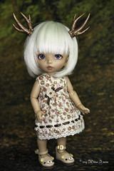 Commissioned Copper horns for tiny (AnnaZu) Tags: copper horns pukifee antlers commissions doll fairyland balljointed bjd abjd polymer clay