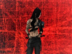 Think Your Hot Shit_001 (2) (RaineFiore) Tags: red blood sl second life secondlife gabriel asian japanese male man japan long hair