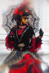 Daydreaming (ej - light spectrum) Tags: carnevale venezia venice venedig mask masken olympus omd em5markii kostüm dress lady 2017 februar february dreamy verträumt italy italien costume venise ヴェネツィア 威尼斯 狂歡節