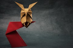 Horned Owl - Hideo Komatsu (pierreyvesgallard) Tags: origami hideo komatsu horned owl animal bird paper folding papercraft