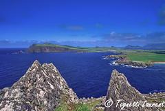 péninsule de Dingle (Irlande) (tognio62) Tags: pelouse ciel mer paysage irlande eau pierre falaises cliffs baie falaise
