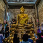 The Buddha in the tree at Wat Bang Kung near Amphawa in Samut Songkhram province, Thailand thumbnail
