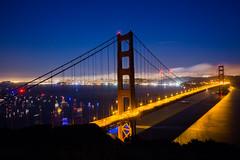 Golden Gate Nights (Thomas Hawk) Tags: 75thbirthdaygoldengatebridge america batteryspencer california goldengatebridge marin marinheadlands sanfrancisco usa unitedstates unitedstatesofamerica bridge millvalley us fav10 fav25 fav50 fav100
