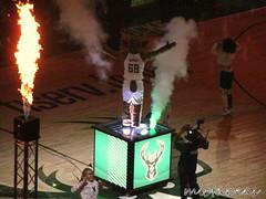 Fire....And...Smoke.... (mistabeas2012) Tags: milwaukee bucks nba