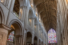 IMG_5217 West Window and Nave (Beth Hartle Photographs2013) Tags: norfolk norwich cathedral anglican ancient historic benedictine monastery churchofengland ceilingvaulting 13thcentury