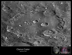 Clavius Crater – February 16, 2019 (The Dark Side Observatory) Tags: tomwildoner night sky space outerspace meade lx90 telescope asi190mc zwo astronomy astronomer science canon crater moon lunar weatherly pennsylvania observatory darksideobservatory tdsobservatory solarsystem earthskyscience phase luna carboncounty clavius february 2019