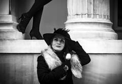 retro (mare_maris) Tags: blackandwhite woman lady retro vintage art aesthetic photography fashionstyle grunge like design photo photooftheday mood follow artist beautiful classic aesthetics women winter noon mono oldathens athenians greece athens ladies oldfashioned brunette browneyes levels consept nostalgic street building architecture attractive beauty legs womanslegs oldstyle youngwoman instangram