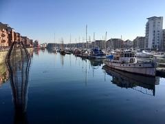 Marina (maggie jones.) Tags: art sculpture water dock boats wales
