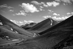 View from Lakenia pass, 5190 meters, Tibet (DarkB4Dawn) Tags: bw tibet mountains landscape clouds high altitude perspective road snowcapped