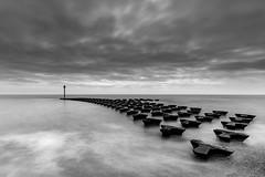 TREAD (Nick Seaman Photos) Tags: felixstowe suffolk long exposure leefilters groyne coast sea ocean tide waves sky skies mono sony a7r a7rii a7riii a7s a7sii a7siii a7 a7ii a7iii a9 a6400 zeiss benro grad polariser polarizer
