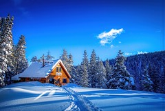 McNamara Hut (nl_photo) Tags: hut aspen colorado mountains winter touring ski backcountry cabin paradise nikon blue snow adventure adventuretravel mcnamara 10thmountaindivision serene sunrise morning cold