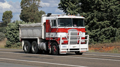 Ken Tip (1/3) (Jungle Jack Movements (ferroequinologist) all righ) Tags: k k123 k125 w925 tip dump truck refuse gravel sand soil kenworth highway hauling haulin hume sydney 2019 yass classic historic vintage veteran hcvca vehicle run hp horsepower big rig haul haulage freight cabover trucker drive transport delivery bulk lorry hgv wagon nose semi trailer deliver cargo interstate articulated load freighter ship move roll motor engine power teamster tractor prime mover diesel injected driver cab wheel double b kw ken kenny k100 tipper hoist