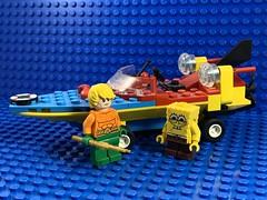2019-094 - Driving Lessons (Steve Schar) Tags: trident boat aquaman spongebob minifigure lego iphonexs iphone project365 sunprairie wisconsin 2019