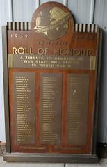 WW2 Australian Honour Board for the Liverpool & London & Globe Insurance Company (Aussie~mobs) Tags: army airforce navy servicemen ww2 australia vintage honourboard rollofhonour liverpoollondonglobeinsurancecompany