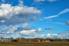 landscape with windmills (Jos Mecklenfeld) Tags: landscape landschaft landschap clouds wolken sonya6000 sonyilce6000 sonyepz1650mm selp1650 westerwolde niederlande nederland windmills windmühlen windmolens terapel groningen netherlands nl