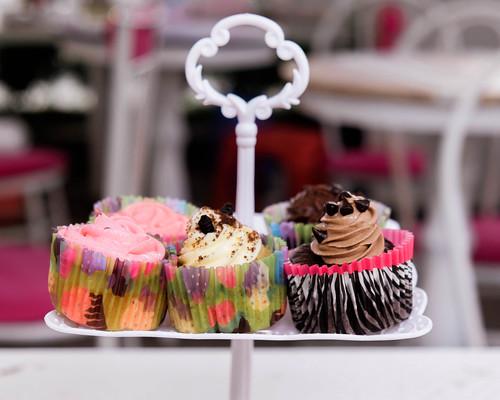 Bokeh shot of cupcakes displayed by wuestenigel, on Flickr