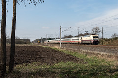 Radbruch Feldweg IC 1987 Fl - M 101 112-1 (Wolfgang Schrade) Tags: ic intercity db br101 1011121 kbs110 radbruch zug eisenbahn