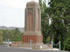 Gundagai. The Cenotaph. Designed by marble sculpture Frank Rusconi of Gundagai. Unveiled 1928. Rusconi received over 800 pounds for this work. (denisbin) Tags: gundagai grenfell marble masterpiece rusconi clock cenotaph warmemorial rectory anglicanrectory gundagairectory church anglican courthouse house grenfellhall