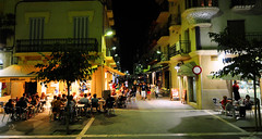 Outdoors eating, Spain (M McBey) Tags: eating cafe restaurant outdoors evening sitges spain alfresco street people social
