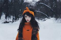 winter river II (AzureFantoccini) Tags: bjd abjd balljointeddoll zaoll luv doll dollmore winter russia nature portrait snow snowfall