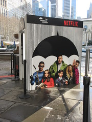 2019 Big Umbrella Academy in Bryant Park NYC 1322 (Brechtbug) Tags: big umbrella bryant park nyc 2019 february 02132019 new york city 6th avenue near 42nd st behind public library midtown manhattan the academy netflix tv series comic book based starting friday 15th bumbershoot umbrellas