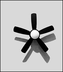 Still life of a fan (Bob R.L. Evans) Tags: celling fan blades ceilingfan shadow abstract composition unusual blackandwhite graytones simple irreverent iphotography stilllife minimalism