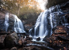 Sunrise at Soco Falls (josht712) Tags: park national reservation indian carolina north hike zen exposure long light sunrise nature photography landscape waterfall falls soco