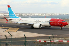 LN-BKC (GH@BHD) Tags: lnbkc boeing 737max8 737 max8 max 738 73m b737 b73m b738 norwegianairshuttle arrecife arrecifeairport lanzarote dy nax norwegianairinternational d8 ibk aircraft aviation airliner unicef logojet specialcolours