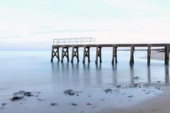 France- Normandie - Grandcamp-Maisy (mda'skaly) Tags: normandie france crépuscule dusk beach plage sea mer longexposure expositionlongue pier seaside