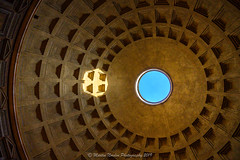 Oculus Pantheon (Martin Norden) Tags: ancientrome architecture area bluesky ceiling church dome equipment generalareawherepicturetaken imagestakeninitaly italy nikkorz2470f4sline nikonz7 oculus pantheon pattern raphael rome sunlight repeatingpattern roof