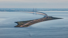 Öresundsbron and Peberholm (tonyguest) Tags: öresundsbron øresundsbroen thebridge bridge sweden denmark tonyguest øresundsbron
