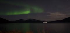 Northern lights on a montain - Norway 2018 (valecomte20) Tags: northern lights montain norway 2018 nikon d5500 tromso norvège aurole boréale water lac neige snow
