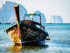 Ao Nang 6 (deepaqua) Tags: ocean andamansea krabiprovince island aonang indianocean boat cliff sailboat thailand