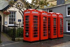 Phone boxes, Truro, Cornwall (Uwe Kögler) Tags: uk phonebox phone cornwall truro unitedkingdom united kingdom greatbritain grosbritannien city england box