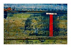 T (Marie Hacene) Tags: pantin canal péniche textures rouge bois