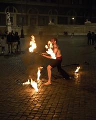 Rome Street Perfomer (dckellyphoto) Tags: italy italia rome roma 2019 lazio europe performer fire man male night dark flames