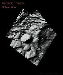 Vesta (Asteroid) Oblique Surface Detail (TerraForm Mars) Tags: vesta asteroid protoplanet nasa dawn ceres