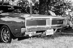 Charger (JBAdams) Tags: 1959nikonf 35mmfilm bw dodgecharger fujiacros100 maine nikkors502 plustekopticfilm120 automobile availablelight blackandwhite car film manualfocus wwwjonathanbadamscom 50mmf2s