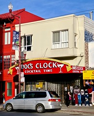 Doc's Clock, San Francisco, CA (Robby Virus) Tags: sanfrancisco california sf ca docs clock dive bar facade sign signage arrow cocktail time booze alcohol neon