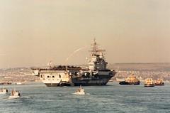 HMS Hermes (Gerry Rudman) Tags: hms hermes portsmouth pennant paying off ins viraat