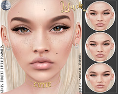 [LeLuck]Genus Freckles&Moles (Sunkora) Tags: secondlife genus suicidedollz freckles moles applier new leluck tintable