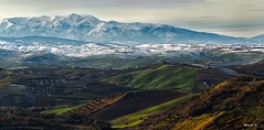 Magna Mater (Davide'70) Tags: italia abruzzo cupello colline campagna coltivazioni agricoltura majella massicciomontuoso sacro maestoso neve atmosfera luce colori inverno