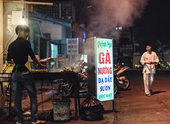 Street Chicken (mrmeezoid) Tags: streetfood street food urban people vietnam hanoi travel asia man cook skewers chicken feet meat barbeque night streetphotography