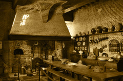 The old kitchen (DameBoudicca) Tags: france frankreich frankrike francia フランス normandie normandy normandía normandia ノルマンディー chatêaumartainville martainvilleepreville martainville château castle slott schloss sepia kitchen kök küche cuisine cocina cucina 台所 だいどころ