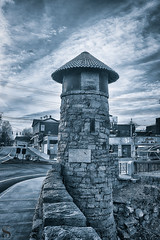 1 Monochrome Monday the old tower-3 (Singing With Light) Tags: 2019 27thjanuary a7iii ct foudnersway milford mirrorless singingwithlight sonya7iii street sunday aroundmilford cloudy cool morning photography singingwithlightphotography sony walk